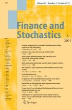 Finance and Stochastics 4/2019