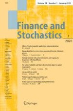 Finance and Stochastics 1/2020