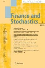 Finance and Stochastics 3/2020