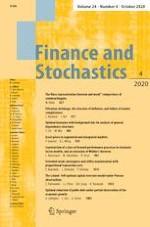 Finance and Stochastics 4/2020