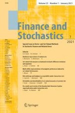 Finance and Stochastics 1/2021