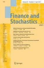 Finance and Stochastics 2/2021