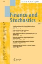 Finance and Stochastics 3/2021