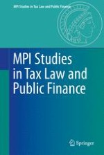 MPI Studies in Tax Law and Public Finance