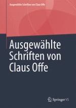 Ausgewählte Schriften von Claus Offe