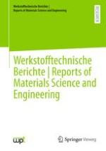 Werkstofftechnische Berichte │ Reports of Materials Science and Engineering