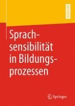 Sprachsensibilität in Bildungsprozessen