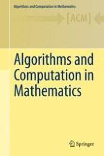 Algorithms and Computation in Mathematics