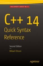 C++ 14 Quick Syntax Reference | springerprofessional de