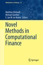 Novel Methods in Computational Finance | springerprofessional de