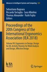 Proceedings Of The 20th Congress Of The International Ergonomics Association Iea 2018 Springerprofessional De