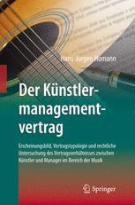 Der Künstlermanagementvertrag Springerprofessionalde