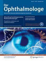 Das Deutsche Akanthamöbenkeratitis Register Springermedizinde