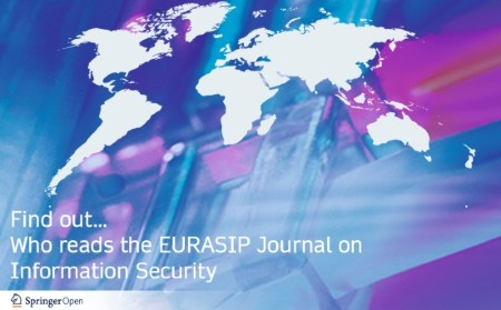 Who reads the EURASIP Journal on Information Security