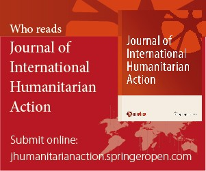 Journal of International Humanitarian Action   Home page