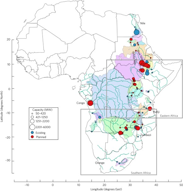 Hydropower Plans In Eastern And Southern Africa Increase Risk Of - Main rivers in africa