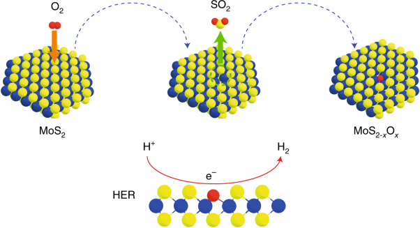 Spontaneous doping of the basal plane of MoS<sub>2</sub> single layers through oxygen substitution under ambient conditions