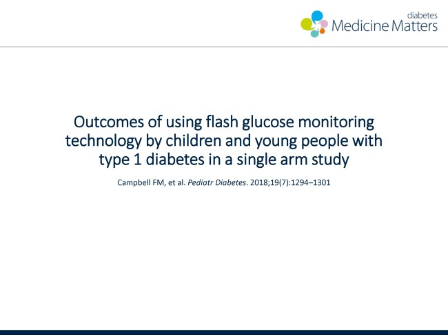 Outcomes of using flash glucose monitoring technology by children