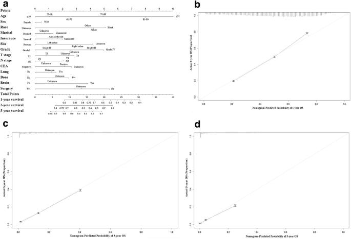 Nomogram For Predicting Occurrence And Prognosis Of Liver Metastasis In Colorectal Cancer A Population Based Study Springerlink