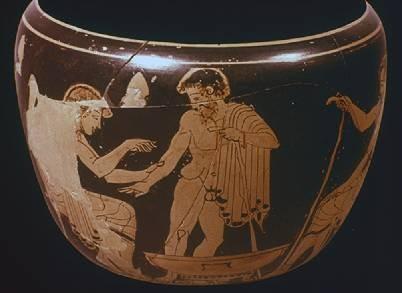Chromolithographie 1908 Alter historischer Druck Griechische Vasen I