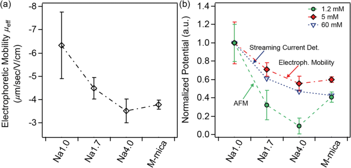 Surface charge density and diffuse layer properties of highly ...