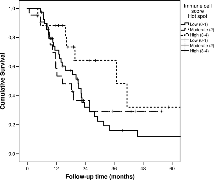 Immune cell score in pancreatic cancer—comparison of hotspot and ...