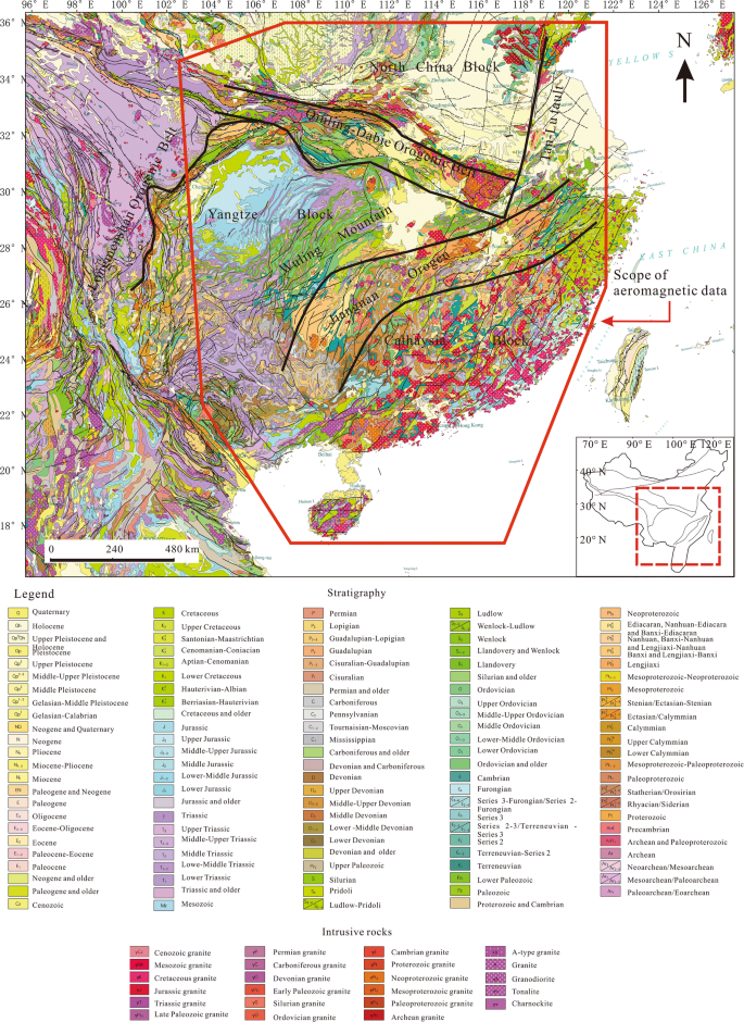 Lateral variation of aeromagnetic anomaly in South China and its ...