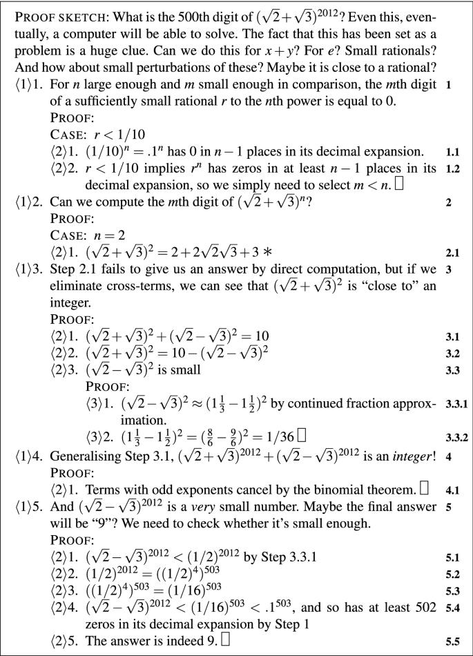 Argumentation Theory for Mathematical Argument | SpringerLink