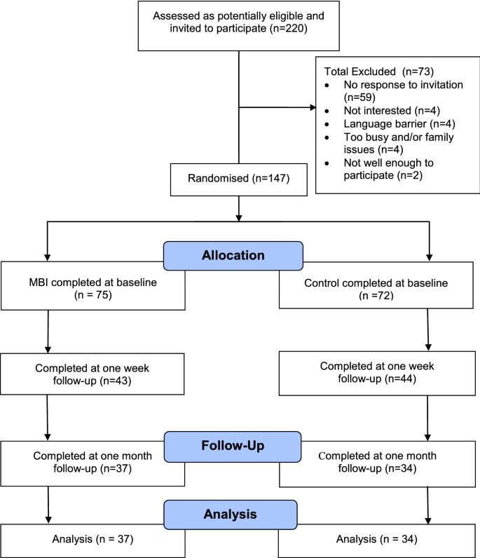 Pilot randomised controlled trial of a brief mindfulness-based ...