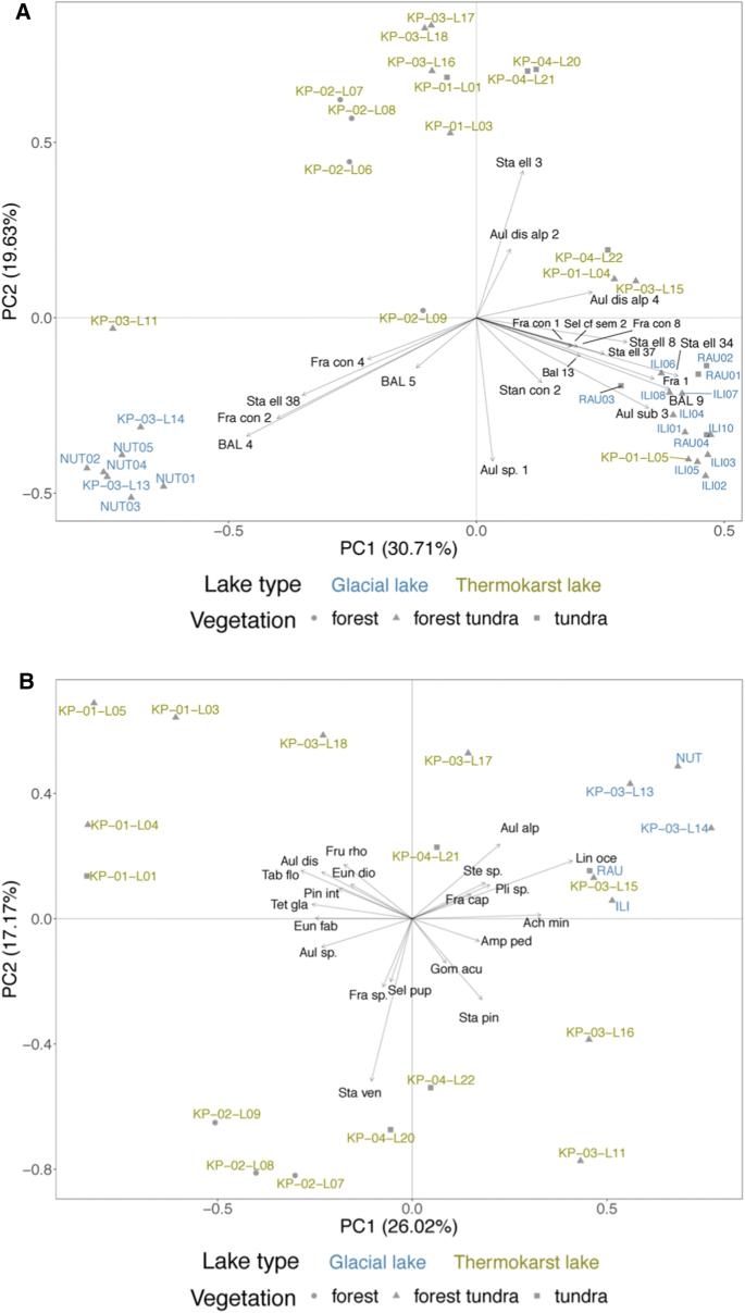 Genetic and morphologic determination of diatom community ...