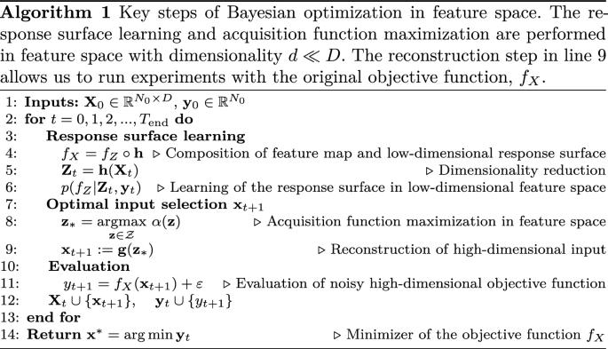 High-dimensional Bayesian optimization using low-dimensional ...