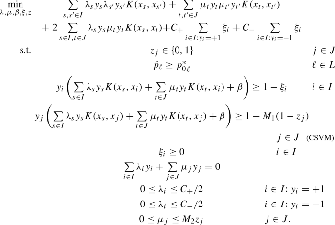 On support vector machines under a multiple-cost scenario ...