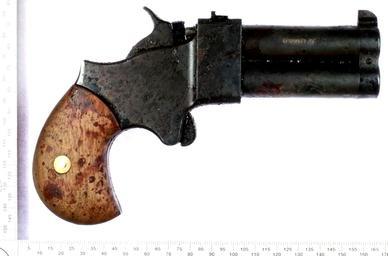 Complex suicide with black powder muzzle loading derringer ...