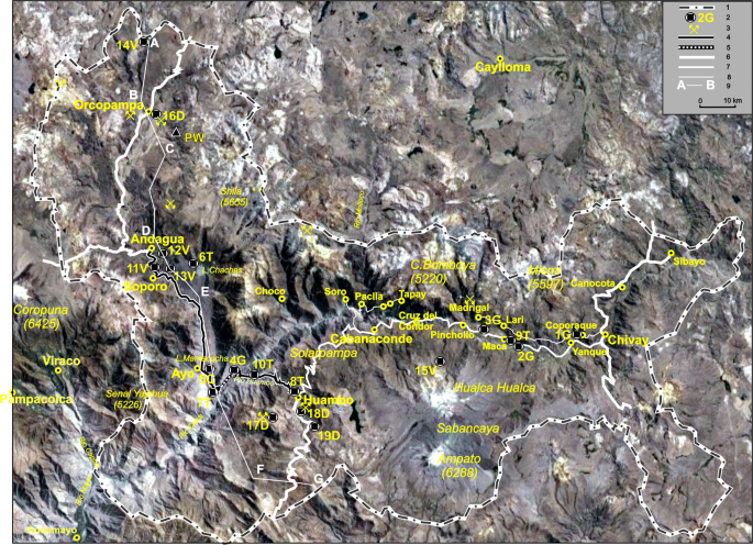 Geosites And Geotouristic Attractions Proposed For The Project Geopark Colca And Volcanoes Of Andagua Peru Springerlink