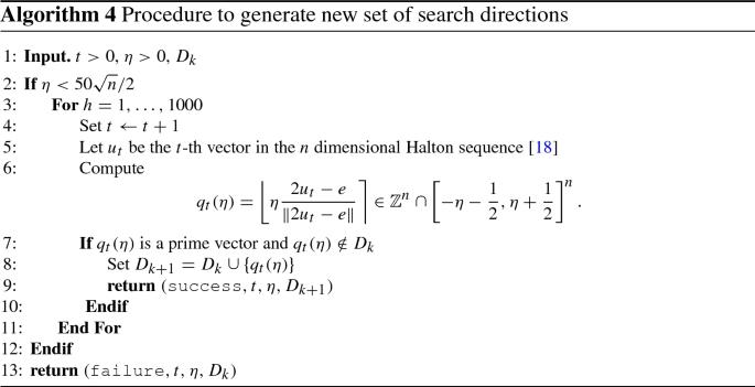 An algorithmic framework based on primitive directions and ...