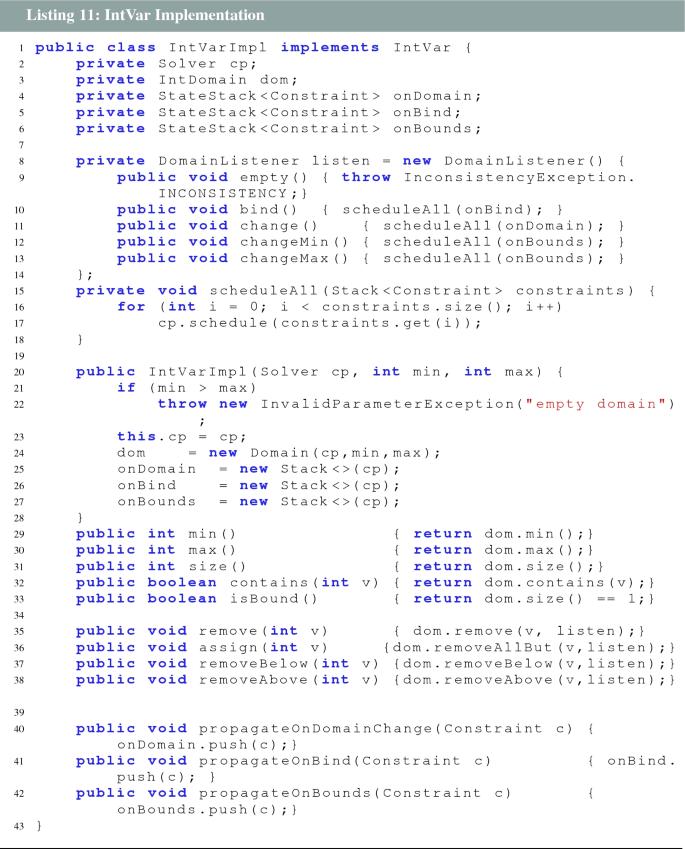 MiniCP: a lightweight solver for constraint programming | SpringerLink