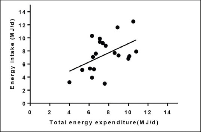 Measurements of daily energy intake and total energy expenditure ...