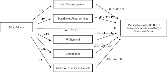 Mindfulness And Romantic Relationship Outcomes The Mediating Role Of Conflict Resolution Styles And Closeness Springerlink