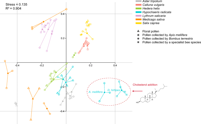 Sterol addition during pollen collection by bees: another possible ...