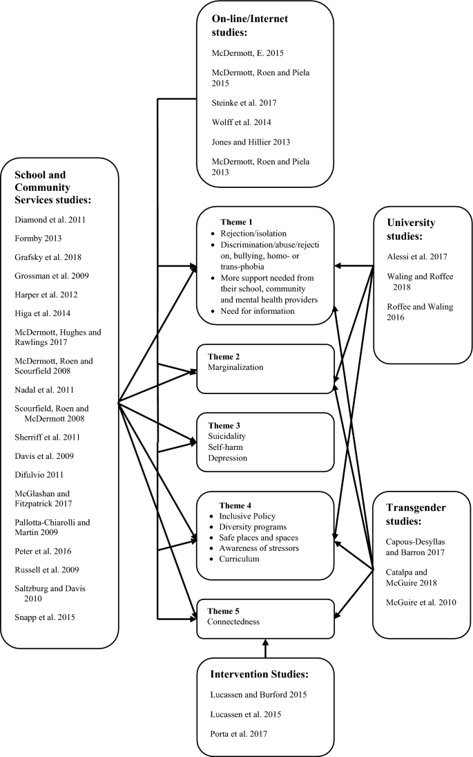 LGBTQI+ Youth and Mental Health: A Systematic Review of ...
