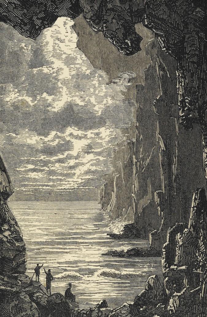 иллюстрации к книге путешествие к центру земли акцент представляет