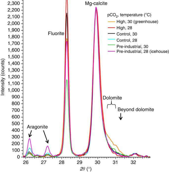 Greenhouse Conditions Induce Mineralogical Changes And Dolomite Accumulation In Coralline Algae On Tropical Reefs Nature Communications
