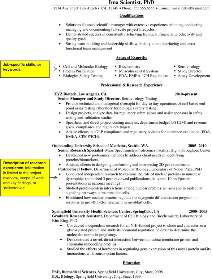 Job Search Basics How To Convert A Cv Into A Resume Nature