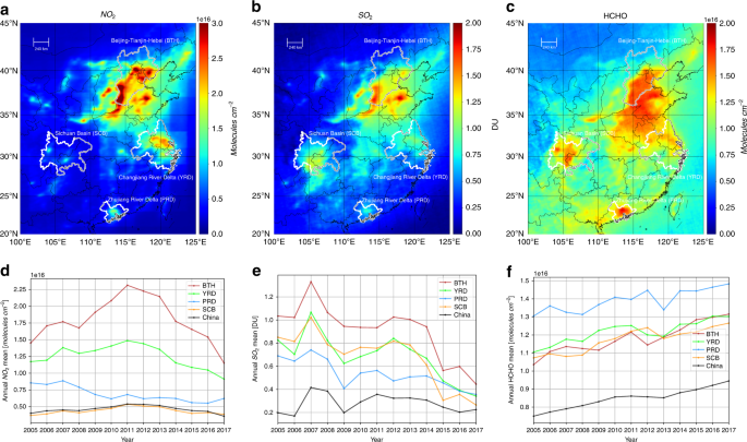 Satellite UV-Vis spectroscopy: implications for air quality trends and
