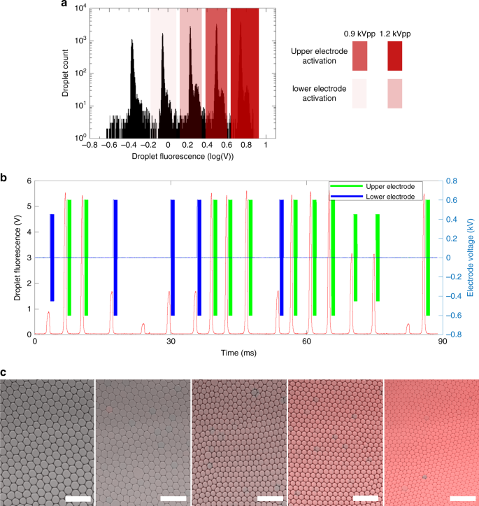 High-throughput multiplexed fluorescence-activated droplet sorting