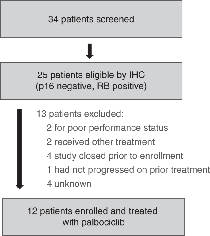 Phase II trial of palbociclib in patients with metastatic
