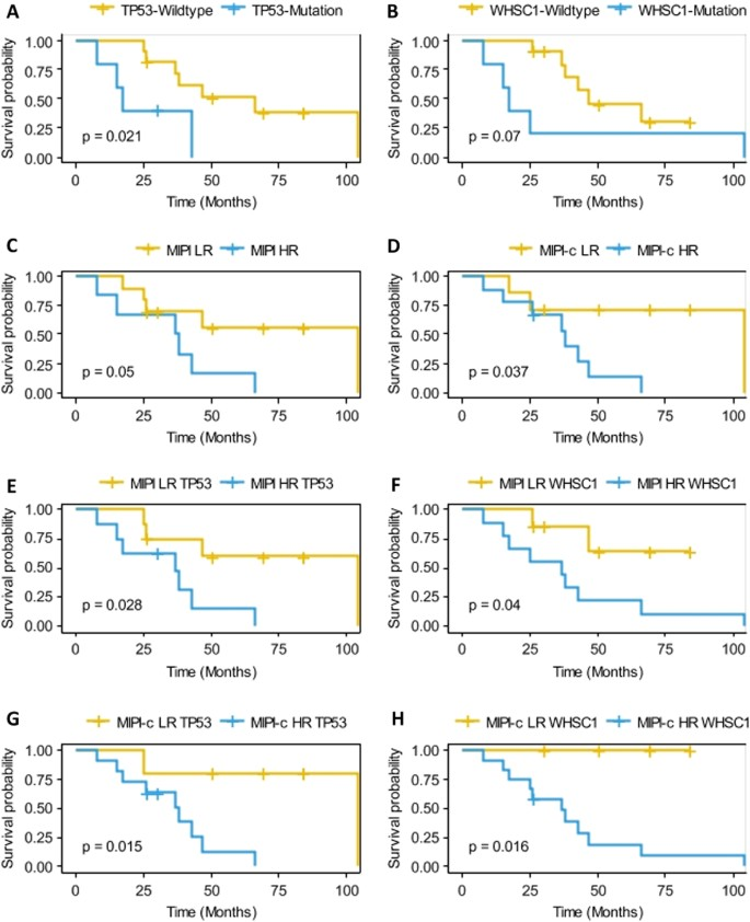 Genomic landscape and prognostic analysis of mantle cell