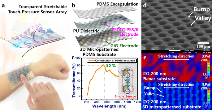 A transparent stretchable sensor for distinguishable detection of
