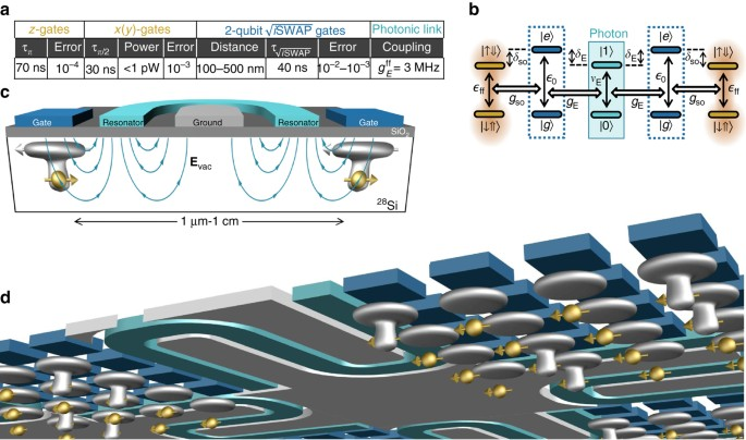 Silicon quantum processor with robust long-distance qubit