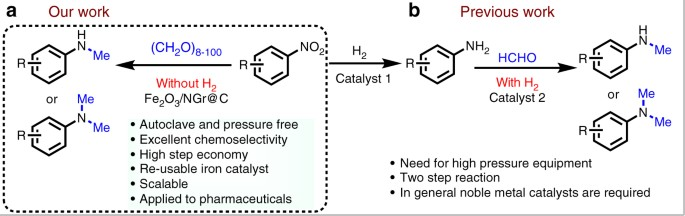 Convenient iron-catalyzed reductive aminations without